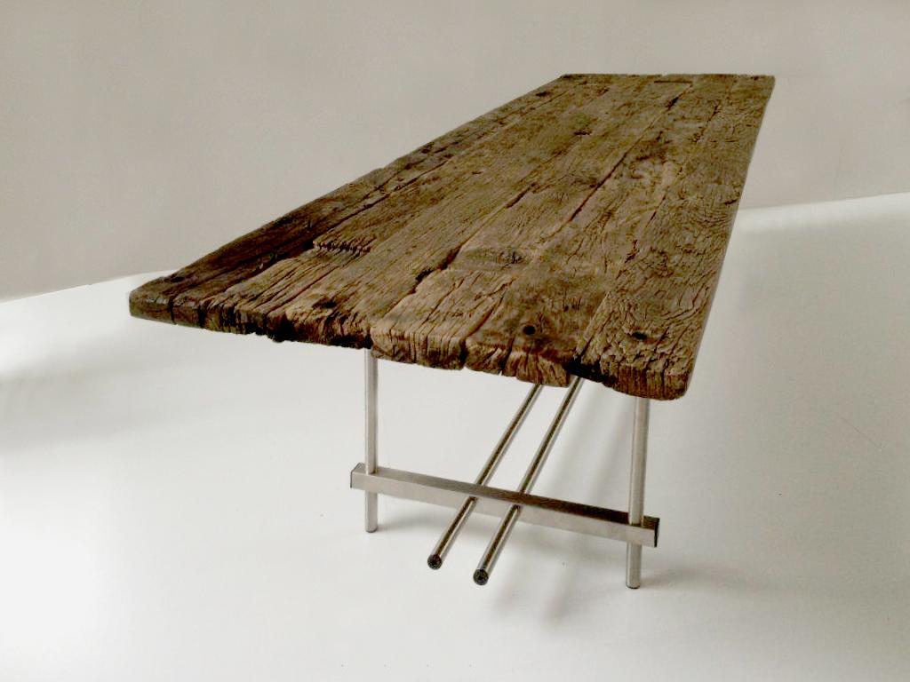 Tuintafel oud hout fvdsontwerp